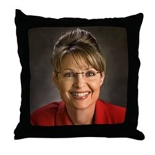 Palin Portrait Throw Pillow