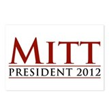 Mitt for President 2012 Postcards (Package of 8)