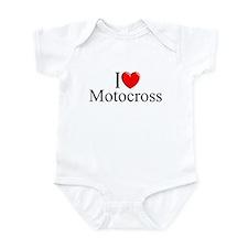 """""""I Love (Heart) Motocross"""" Infant Bodysuit"""