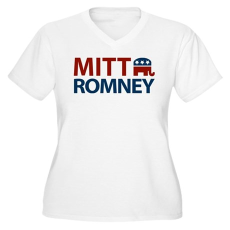 Mitt Romney GOP Women's Plus Size V-Neck T-Shirt