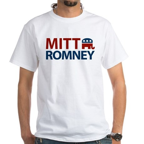 Mitt Romney GOP White T-Shirt