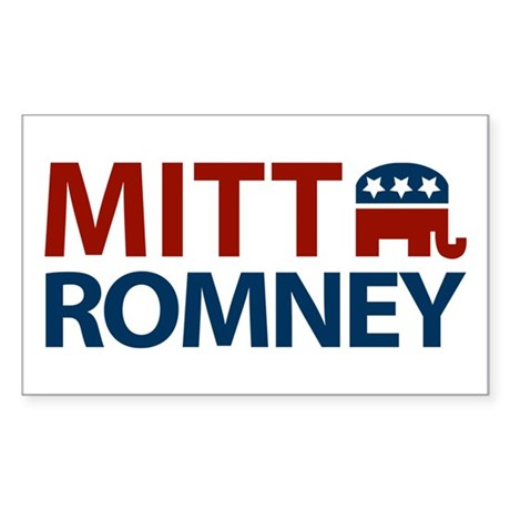 Mitt Romney GOP Rectangle Sticker