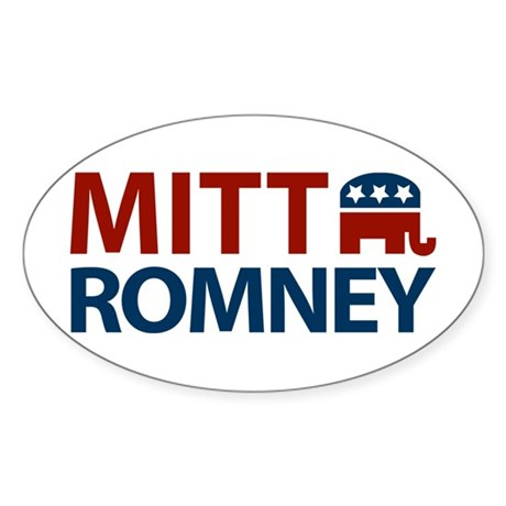 Mitt Romney GOP Oval Sticker