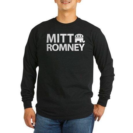 Mitt Romney GOP Long Sleeve Dark T-Shirt