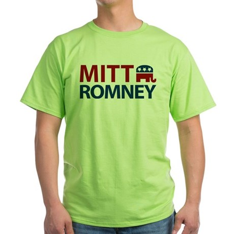 Mitt Romney GOP Green T-Shirt