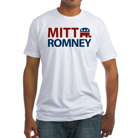 Mitt Romney GOP Fitted T-Shirt