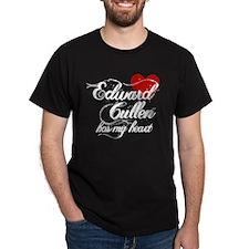 Edward Has My Heart Dark T-Shirt