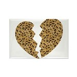 Broken Leopard Heart Rectangle Magnet
