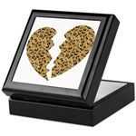 Broken Leopard Heart Keepsake Box