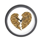 Broken Leopard Heart Wall Clock