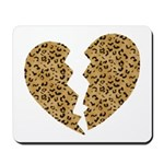 Broken Leopard Heart Mousepad