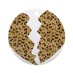 Broken Leopard Heart Ornament (Round)