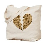 Broken Leopard Heart Tote Bag