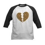 Broken Leopard Heart Kids Baseball Jersey