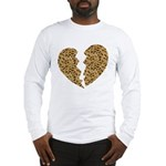 Broken Leopard Heart Long Sleeve T-Shirt