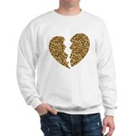 Broken Leopard Heart Sweatshirt