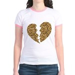 Broken Leopard Heart Jr. Ringer T-Shirt