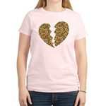 Broken Leopard Heart Women's Light T-Shirt