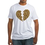 Broken Leopard Heart Fitted T-Shirt