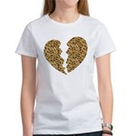 Broken Leopard Heart Women's T-Shirt