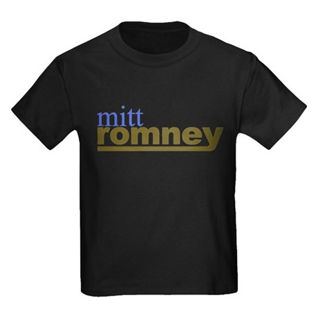Mitt Romney Kids Dark T-Shirt