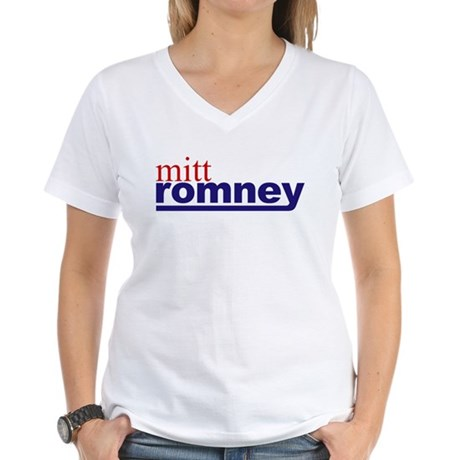 Mitt Romney Women's V-Neck T-Shirt