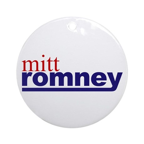 Mitt Romney Ornament (Round)
