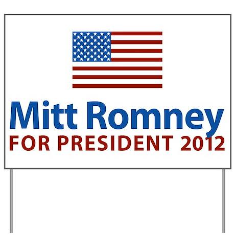 Mitt Romney American Flag Yard Sign by elephantusa
