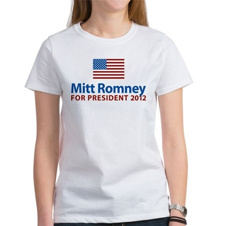 Mitt Romney American Flag Women's T-Shirt