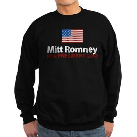 Mitt Romney American Flag Sweatshirt (dark)