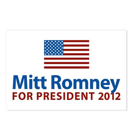 Mitt Romney American Flag Postcards (Package of 8)