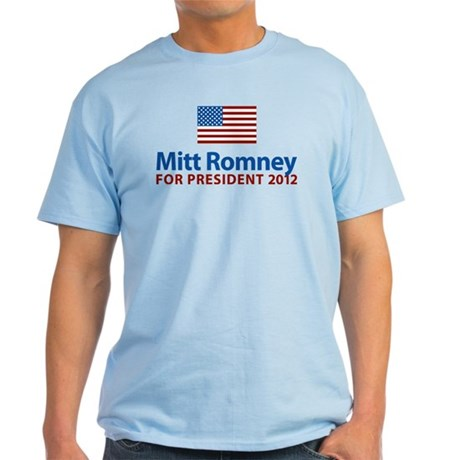 Mitt Romney American Flag Light T-Shirt