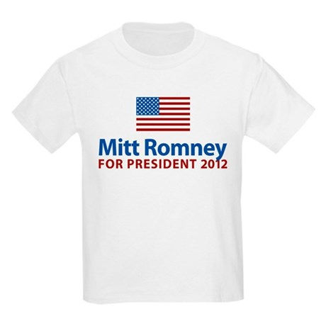 Mitt Romney American Flag Kids Light T-Shirt