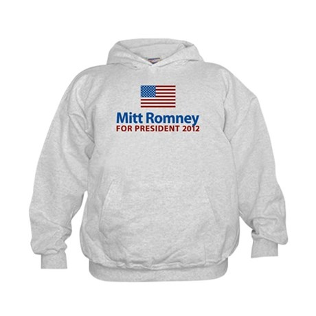 Mitt Romney American Flag Kids Hoodie