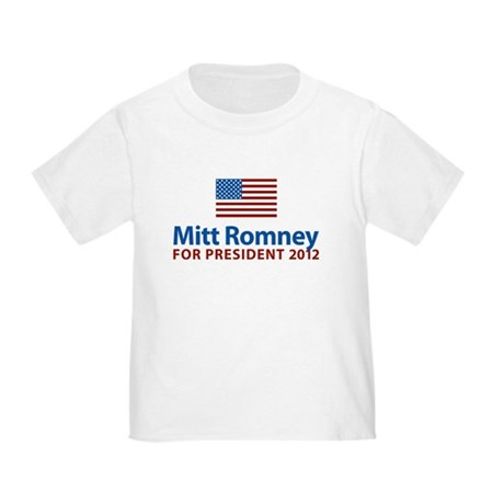 Mitt Romney American Flag Toddler T-Shirt