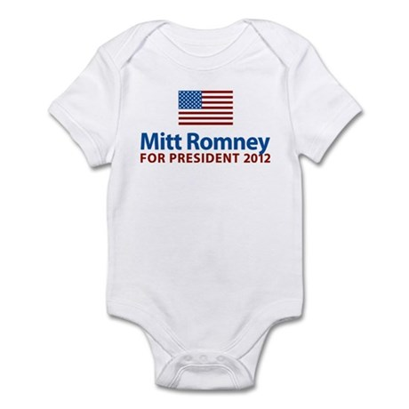 Mitt Romney American Flag Infant Bodysuit