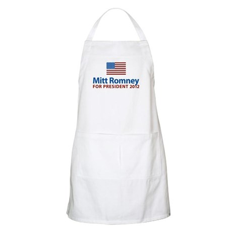 Mitt Romney American Flag BBQ Apron