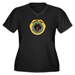 Des Moines Police K9 Women's Plus Size V-Neck Dark