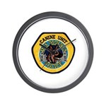 Des Moines Police K9 Wall Clock