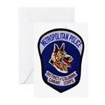 DC Police K9 Corps Greeting Cards (Pk of 10)