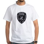 Cocoa Police Canine White T-Shirt