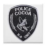 Cocoa Police Canine Tile Coaster