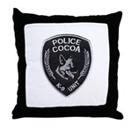 Cocoa Police Canine Throw Pillow