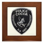 Cocoa Police Canine Framed Tile