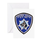 Tacoma Police K9 Greeting Cards (Pk of 10)