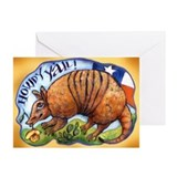 Armadillo Texas Howdy Greeting Cards (Pk of 10)