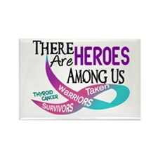Heroes Among Us THYROID CANCER Rectangle Magnet