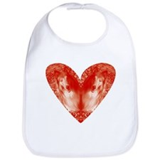 Collie Valentine Bib