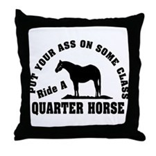 Quarter Horse Ride with Class Throw Pillow