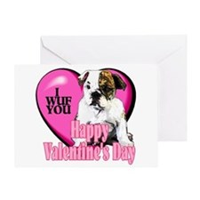 Bulldog Valentines Greeting Card